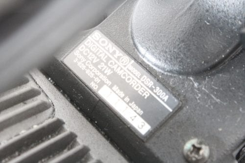 Sony DV Camcorder DSR-300A (For Parts Only) - 2 in Lot - Label