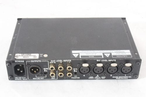 Shure SCM268 Microphone Mixer - 2 in Lot - Back
