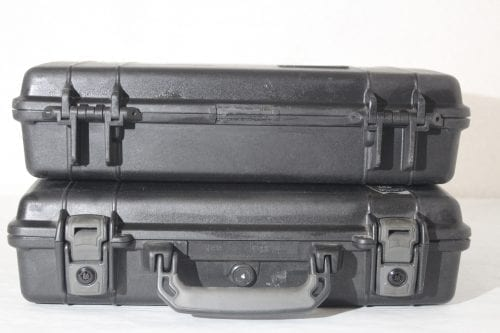 Pelican HARD CASE BLACK WITH FOAM - Front and Back