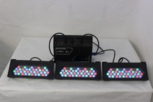 City Theatrical PDS-375TRX - Powersupply w/ 12 Phillips ColorBlast Lights - Main