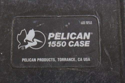 Pelican 1550 Case - Label