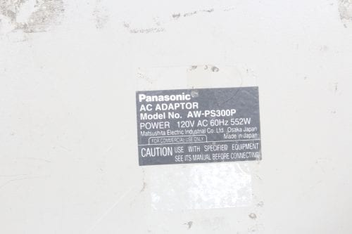 Panasonic Multihybrid Control Panel AW-RP505 and Panasonic AC Adapter AW PS300P - 2 in lot (Parts Only) - - Label