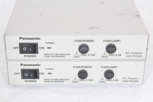 Panasonic Multihybrid Control Panel AW-RP505 and Panasonic AC Adapter AW PS300P - 2 in lot (Parts Only)