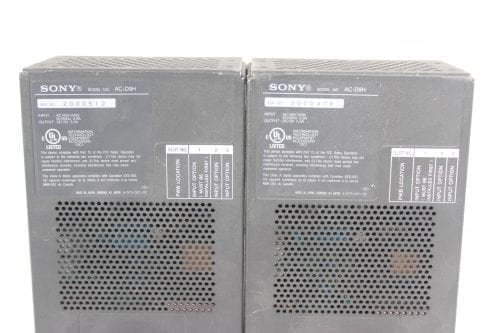 Sony AC-D9H V-Mount Power Supply - 2 in Lot (For Parts Only) - Front Label