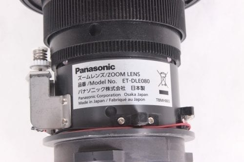 Panasonic ET-DLE080 Ultra Short Throw Zoom Projector Lens 11.8mm-14.6mm Label
