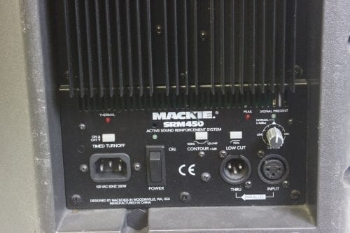 Mackie SRM450 V1 Active PA Powered Speaker (1AU) Label