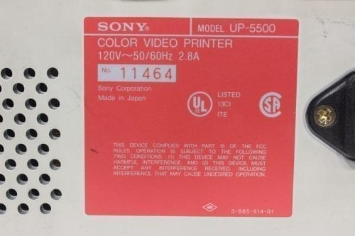 Sony UP-5500 Color Video Printer - Label