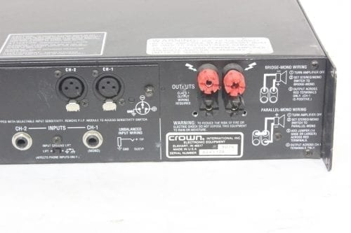 Crown Macro-Tech 2400 Stereo Power Amplifier Back1