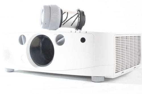 NEC PA550W Large Venue Projector + NP13ZL Zoom Lens - Side 2