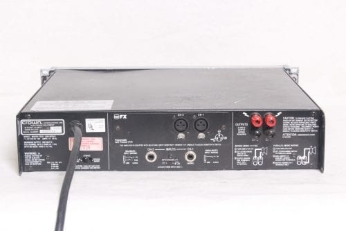 Crown Macro-Tech 1200 Stereo Power Amplifier Back2