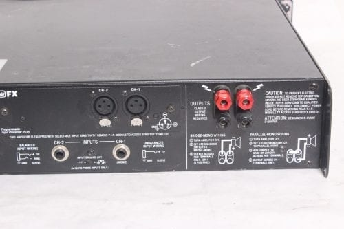Crown Macro-Tech 1200 Stereo Power Amplifier Back