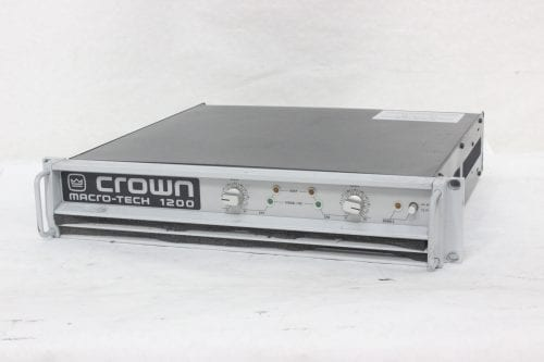 Crown Macro-Tech 1200 Stereo Power Amplifier Side2