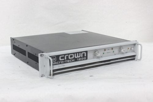 Crown Macro-Tech 1200 Stereo Power Amplifier Side1