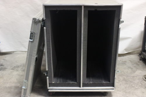 Calzone Cases Wheeled Road Case - Good for speaker bumpers (64Lx35Wx42H) Open