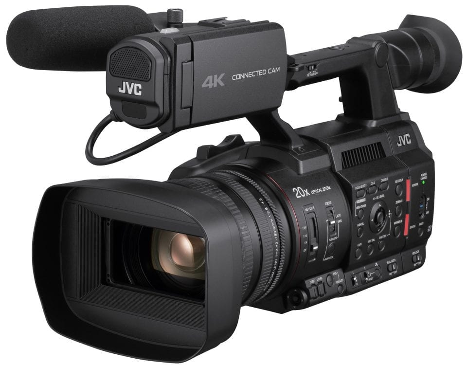 "JVC GY-HC500 Hand-Held Connected Cam 1"" Camcorder Front"