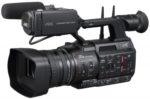 "JVC GY-HC550 Hand-Held Connected Cam 1"" Broadcast Camcorder Left"