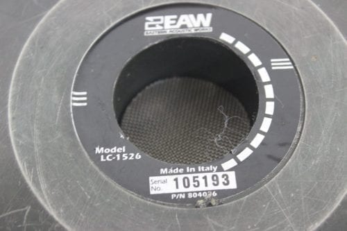 "EAW LC-1526 15"" Woofer Speaker - Lot of 4 (For Parts) Label"