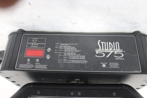 High End Systems Studio - Spot 575H Series Lights(Pair) Label