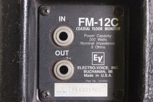 EV FM-12C Floor Monitor Speaker System(Pair)(For Parts) Connector