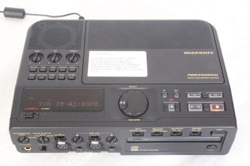 Marantz Professional CDR-420 - Portable Hard Disk Recorder and CD/MP3 Burner w/ Pelican Case - Top