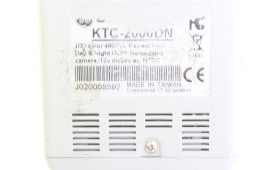 GE Security KTC-2000DN Day/Nigh High Res Camera, 480 TVL, 0.1 lux color, 570 TVL, 0.01 lux B/W - Label