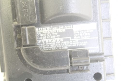 Sony DXF-107WS Electronic View Finder - Label