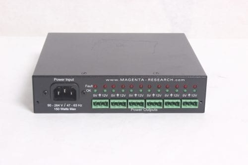 MAGENTA MINI DENSE PACK POWER SUPLY - RACK MOUNT POWER SUPPLY FOR 12 DEVICES -BACK