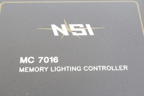 NSI MC 7016 Stage Lighting Console Memory Lighting Controller - Label 2