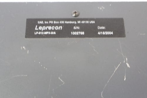 Leprecon LP-612 Microplex - DMX Console - Label