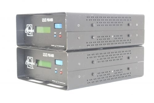 Chroma Q Colorblock DB4 - Lot of 9 + 2 PSU w/ Wheeled Case (Parts Only) -Power Source Side 1