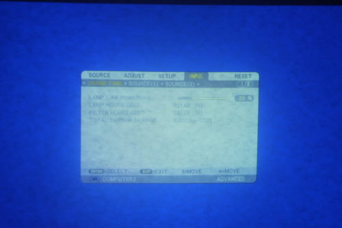 NEC NP-PA550W WXGA 3 LCD Large Venue Projector + NP13ZL Zoom Lens - 2146 Hrs