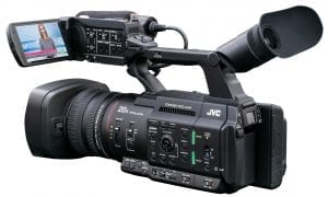 """JVC GY-HC500SPC Sports Production & Coaching Connected Cam 1"""" Camcorder Side"""