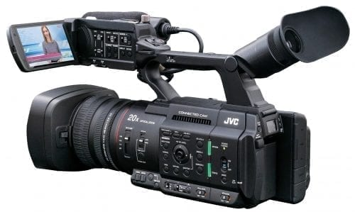 "JVC GY-HC500SPC Sports Production & Coaching Connected Cam 1"" Camcorder Side"