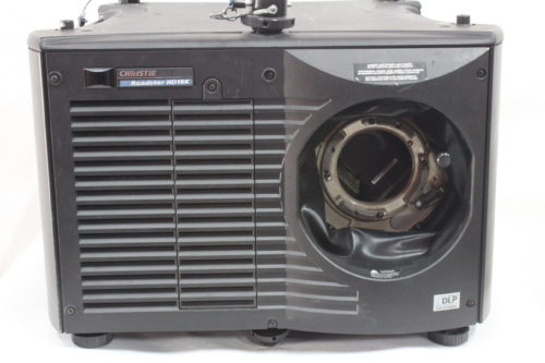 Christie Roadster HD18K 1080 HD 3-Chip DLP Projector For Parts (w/o Lens) - 483 Lamp Hrs Front