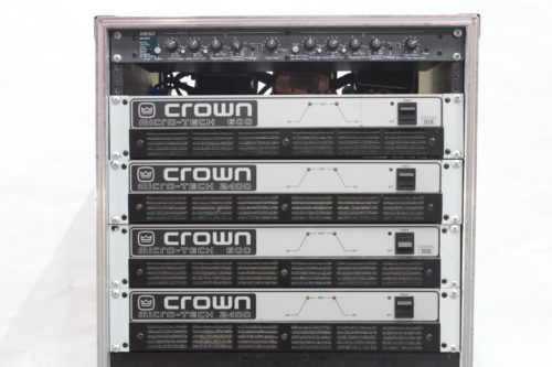 CROWN Micro 600 (2) CROWN Micro 2400 (2) ASHLY XR1001 (1) - AMP RACK & BLACK CASE Main