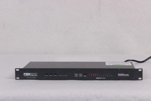 SABINE - 24-Bit Single Channel Feedback Exterminator - Rack -FRONT