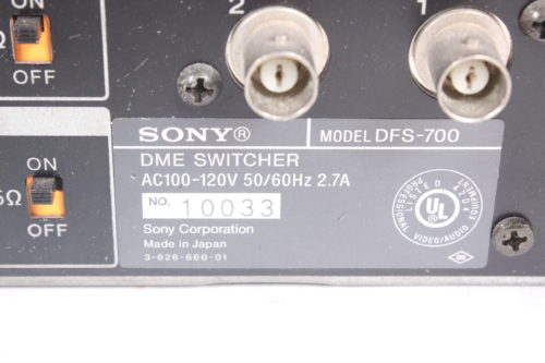 Sony DFS-700 Video Switcher & Control Panel with Case Label