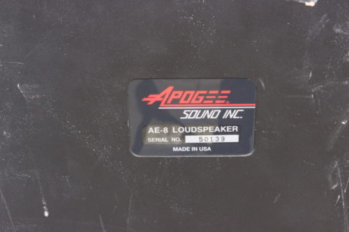 Apogee Sound AE-8 Compact Loudspeaker System w/ Road Case Label