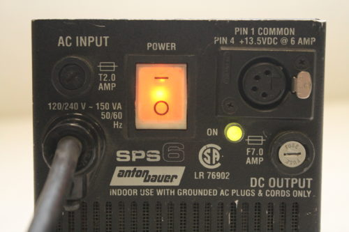 Anton Bauer SPS6 AC and On Board Power Supply Label1