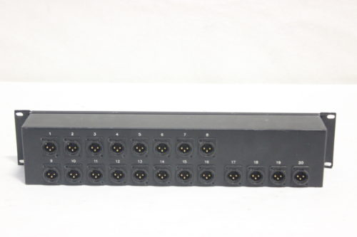 Whirlwind AB60FP - Connector to XLR Sound Image 20 Channel Drive Rack Panel Back