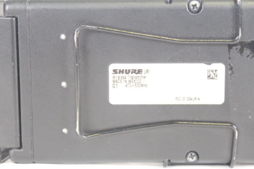 Shure UR1-G1 Bodypack Transmitter, Frequency G1/470-530MHz Frequency