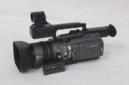 Sony DSR-PD150 3CCD Mini DVCAM Professional Camcorder w/ Road Case Side