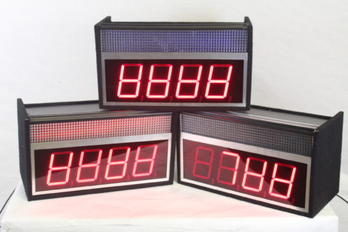 Game Show Mania GSS-4 Kit w/ Hit Buttons & LED Lighting clocks1