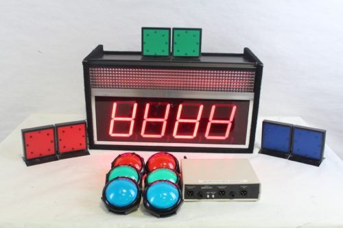 Game Show Mania GSS-4 Kit w/ Hit Buttons & LED Lighting main1
