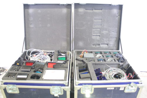 Game Show Mania GSS-4 Kit w/ Hit Buttons & LED Lighting cases2