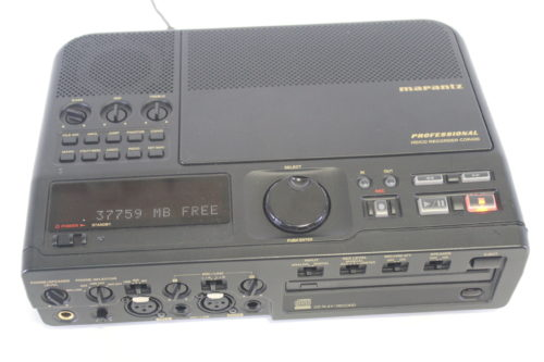 Marantz CDR420 Portable MP3/WAV & CD Recorder front2