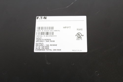 Eaton T2235-F4-CNB09L ATS Rack PDU w/ 2 L630 Plugs/ 2 IEC-320-C19/ 4 Nema 5-15 Outlets tag1