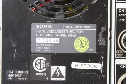 Sony DVW-A500 Digital Betacam Editor (FOR PARTS) tag1