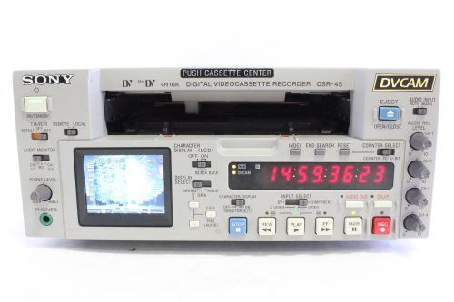 SONY DSR-45 Professional DVCAM Digital Videotape Recorder 780 Drum Hours Main