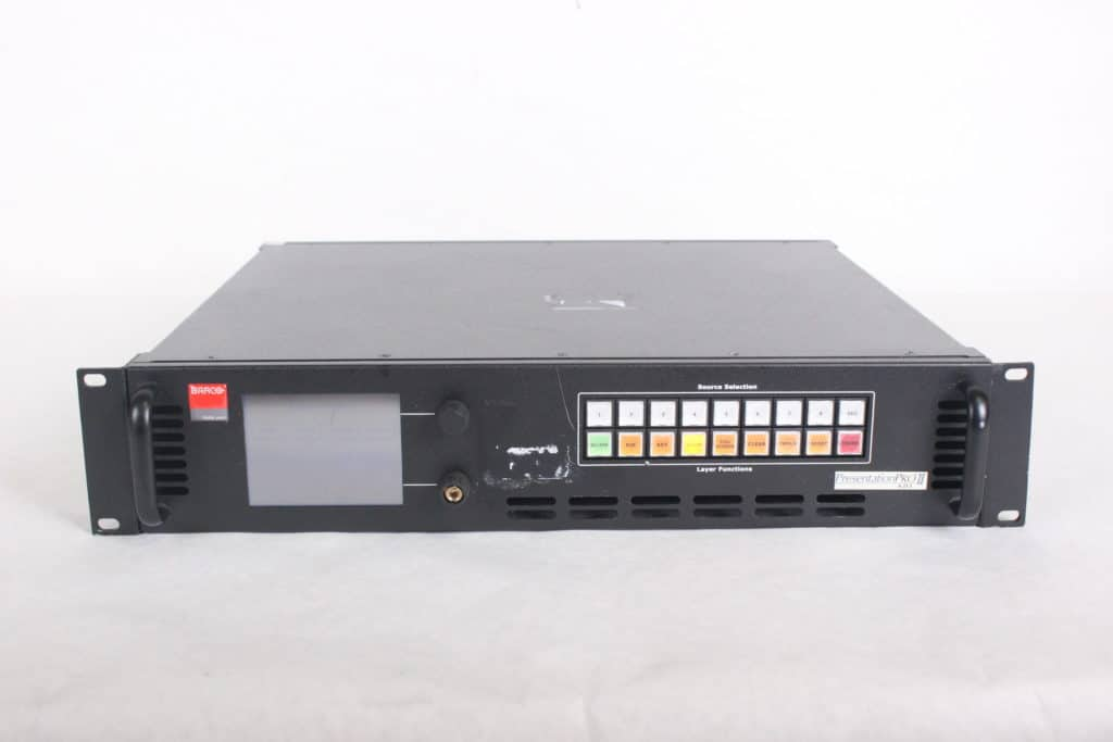 Barco Folsom Research PS-2005 PresentationPRO-II HD-SDI Video Switcher front1